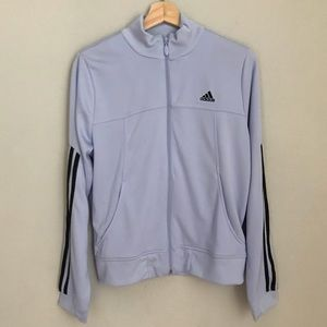 ADIDAS light purple track jacket